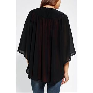 Urban Outfitters Black Kimono Cardigan
